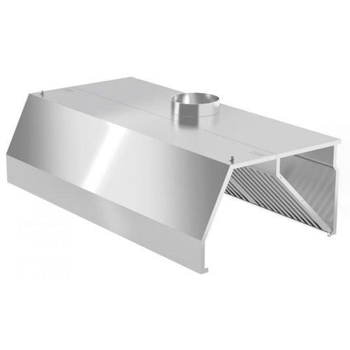 Trapezium Afzuigkap Wandmodel   inclusief filters   Breedte 1000-5000mm   Diepte 800-1400mm   287 opties