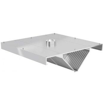 Centrale afzuigkap schuin model | Inclusief filters | Breedte 1000-5000mm | Diepte 1400-2400mm | 287 opties