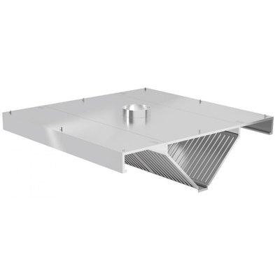 Centrale afzuigkap schuin model   Inclusief filters   Breedte 1000-5000mm   Diepte 1400-2400mm   287 opties
