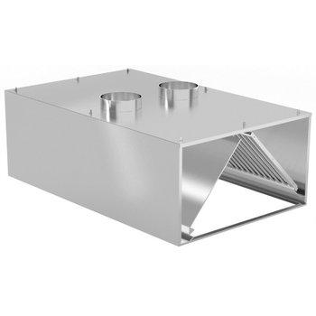 Inductie afzuigkap wandmodel | Breedte 1200-5000 | Diepte 900-1400mm | 234 opties