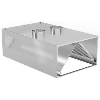 Gecompenseerde inductie afzuigkap wandmodel | Breedte 1200-5000mm | Diepte 900-1400mm | 234 opties