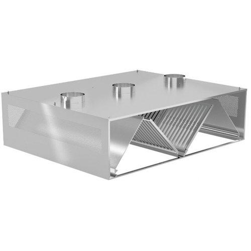Centrale compenserende inductie afzuigkap | Breedte 1200-5000 | Diepte 1800-2400mm | 156 opties