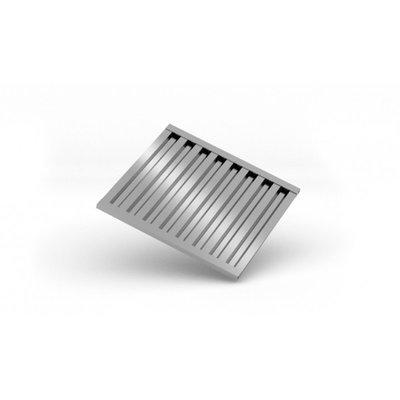 Vetfilter t.b.v. afzuigkappen | Breedte 300-500mm | Diepte 500mm | 2 opties