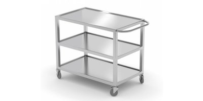 RVS trolleys / afvalbakken