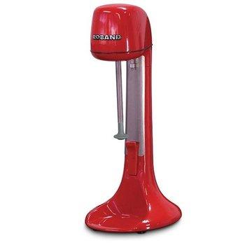 Milkshake mixer - incl 3 opzetstukken (voor extra dik of extra luchtig) - rood