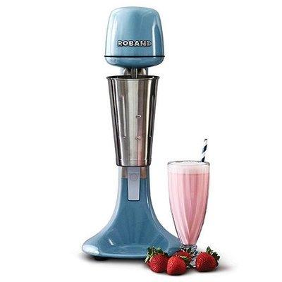 Milkshake mixer - incl 3 opzetstukken (voor extra dik of extra luchtig) - blauw