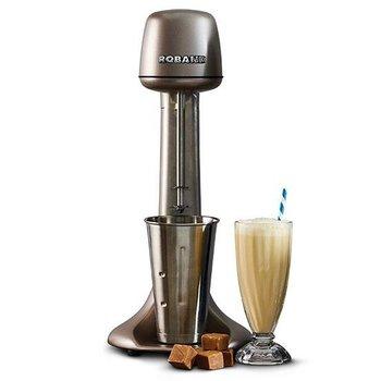 Milkshake mixer - incl 3 opzetstukken (voor extra dik of extra luchtig) - metallic