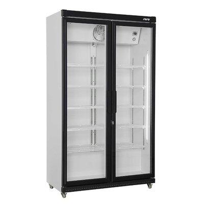 Flessenkoelkast met 2 glazen deuren | 10 roosters | 850L | (H)197,3x(B)112x59,5cm