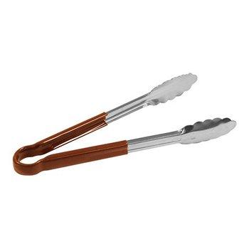 Serveer tang roestvrijstaal bruin 25cm