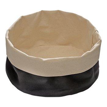 Broodzak canvas rond zwart 20cm