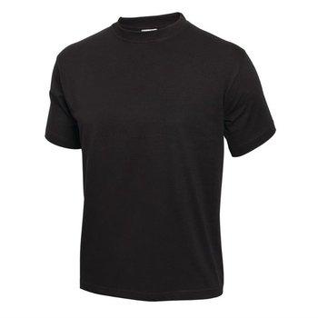 Zwart t-shirt met buisconstructie | Unisex | Maat M-XL