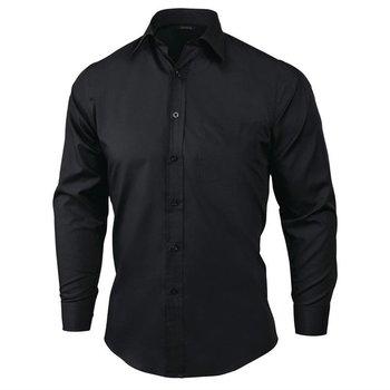 Overhemd met lange mouw zwart | Unisex | Maat S-XL