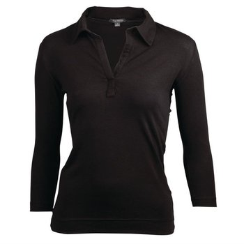 Dames t-shirt met V-hals zwart | Maat XS-XL