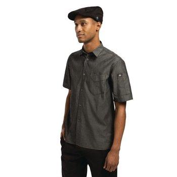 Zwart denim unisex shirt | Maat S-XL