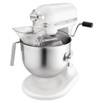 KitchenAid Professionele keukenmixer met schenkscherm - wit - 6,9 liter