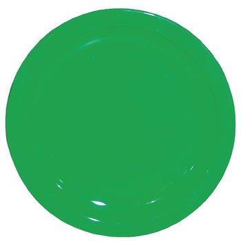 Polycarbonaat borden groen | 12 stuks | Ø23cm