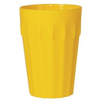 Stapelbare polycarbonaat bekers geel | 12 stuks | 26cl