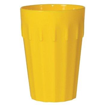 Stapelbare polycarbonaat bekers geel | 12 stuks | 14cl