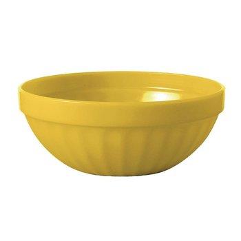 Stapelbare polycarbonaat fruitschalen geel | 12 stuks | Ø10cm