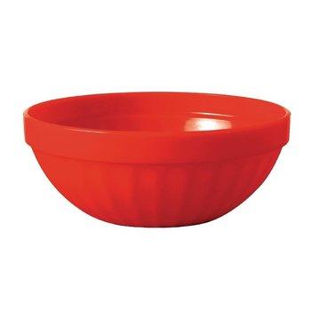Stapelbare polycarbonaat fruitschalen rood | 12 stuks | Ø10cm