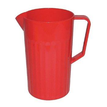 Schenkkan polycarbonaat rood | 1,4 liter