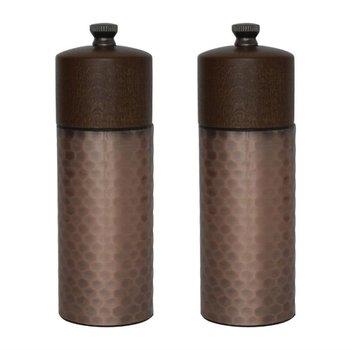 Peper- en zoutmolenset koper - 15cm