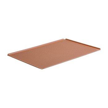 Aluminium bakplaat geperforeerd met silicone coating - 1/1GN