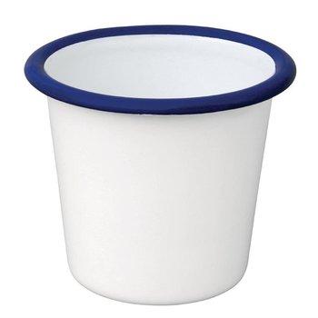 Sauspotje - retro stijl - wit/blauw - 6 stuks