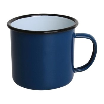 Mok 35cl - retro stijl - blauw/zwart - 6 stuks