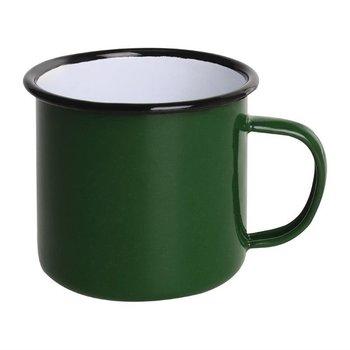 Mok 35cl - retro stijl - groen/zwart - 6 stuks