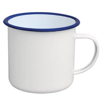 Mok 67cl - retro stijl - wit/blauw - 6 stuks