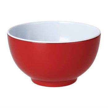 Melamine kommen rood - per 6 stuks - Ø12,5cm