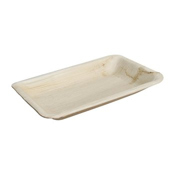 Biologisch afbreekbare rechthoekige palmbladborden - 100 stuks - 26x16cm