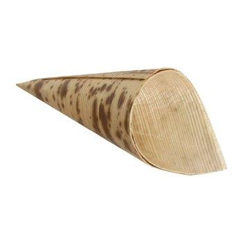 Biologisch afbreekbare bamboe puntzakjes - 200 stuks - 8xØ3,5cm