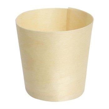 Biologisch afbreekbare berkenhouten dipschaaltjes - 100 stuks - 4x4cm