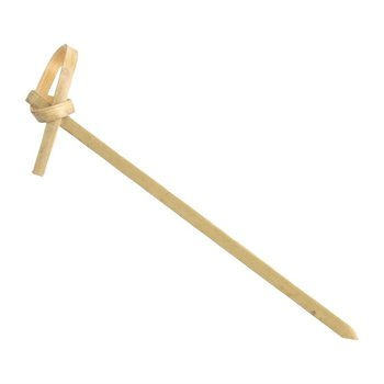 Biologisch afbreekbare bamboeprikkers met krul - 100 stuks - 9cm