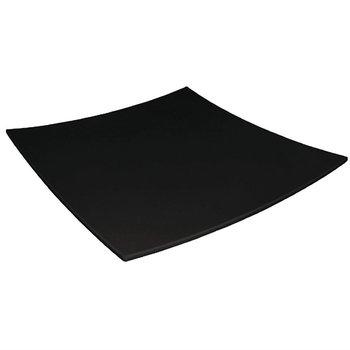 Vierkant bord met gebogen rand melamine - zwart - 31x31cm