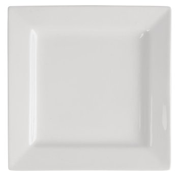Vierkante borden Lumina porselein   Per 4 stuks   26,5x26,5cm