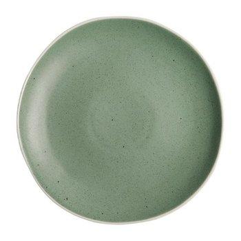 Bord Chia porselein groen   Per 6 stuks   Ø27cm
