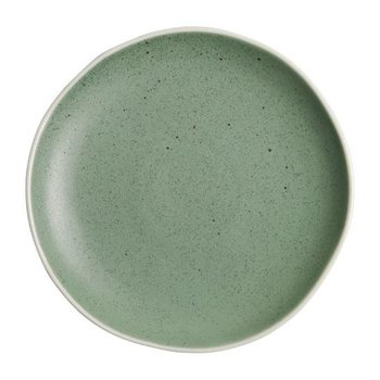 Bord Chia porselein groen   Per 6 stuks   Ø20,5cm