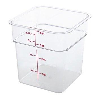Vierkante polycarbonaat voedseldoos - 3,8 liter