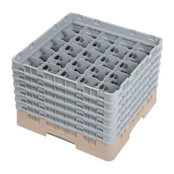 Glazenkorf Cambro met 25 compartimenten - 50x50x(H)34,9cm - glashoogte 29,8cm