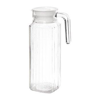 Glazen schenkkannen met deksel   6 stuks   1 liter
