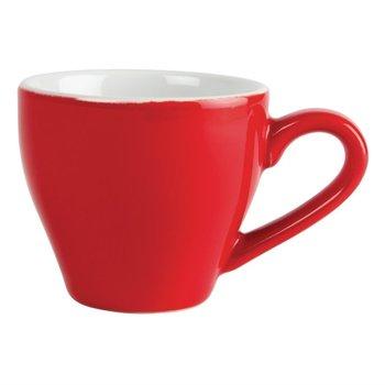 Espressokop Olympia Café porselein - rood - 12 stuks - 10cl