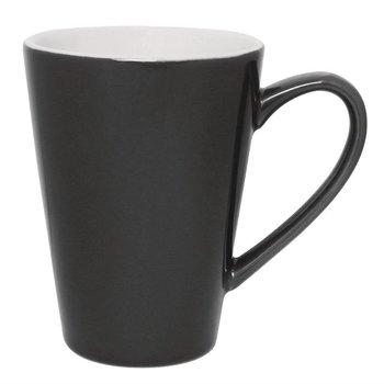 Latte bekers Olympia Café porselein - grijs - 12 stuks - 34cl