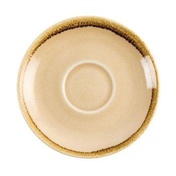 Schoteltje voor koffie 14cm - Olympia Kiln - zandsteen - per 6 stuks