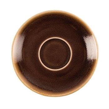 Schoteltje voor espresso 11,5cm - Olympia Kiln - bruin - per 6 stuks