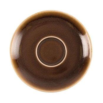 Schoteltje voor koffie 14cm - Olympia Kiln - bruin - per 6 stuks