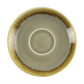 Schoteltje voor espresso 11,5cm - Olympia Kiln - mosgroen - per 6 stuks