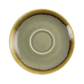 Schoteltje voor koffie 14cm - Olympia Kiln - mosgroen - per 6 stuks